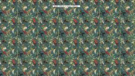 Behang - KINGDOM ANIMALIA - dark teal