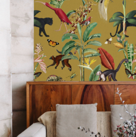 Wallpaper - KINGDOM ANIMALIA - gold ochre