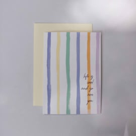 Greeting card - STRIPES