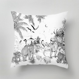 Pillow - PREHISTORIC black/white