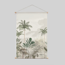 Textile Poster - Tropical Wilderness Beige/Green