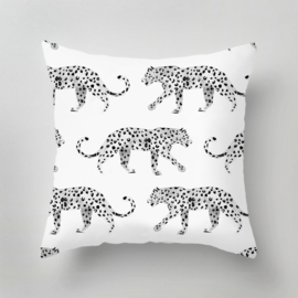 Outdoor Pillow - LEOPARD black/white