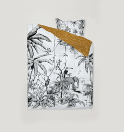 Toddler Bedding Set - JUNGLE black white 100x135cm
