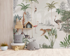 Jungle behang - Wandgrote afbeelding - WILDLIFE'S PLAYGROUND