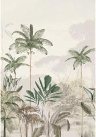 4) Behang Tropical Wilderness Beige Groen - 180x260