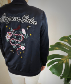 Jacket - Embroidered Floral Snake