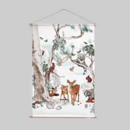 Textile poster - MAGICAL FOREST