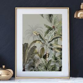 Poster - Dreamy Jungle Green - A4