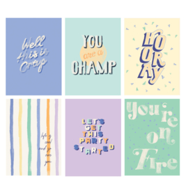 Set 6 Postcards - QUOTE