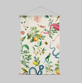 Textielposter - GARDEN OF EDEN soft marshmellow