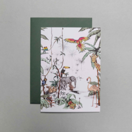 Greeting card - JUNGLE TONAL