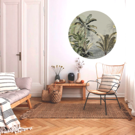 Round wall sticker Dreamy Jungle Green