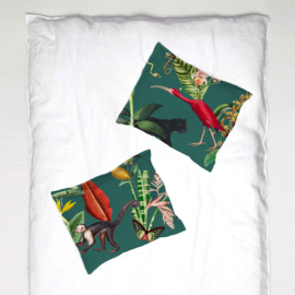 Pillowcase - KINGDOM ANIMALIA dark teal - 1 cover