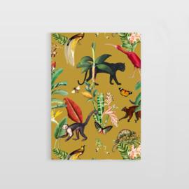 Postcard - KINGDOM ANIMALIA GOLD OCHRE