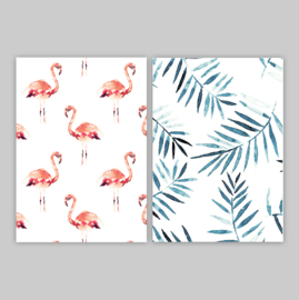 Ansichtkaarten - FLAMINGO SET