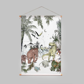 Textile Poster - PREHISTORIC