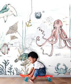 Oceaan Behang - Wandgrote afbeelding - UNDERWATER WONDERS
