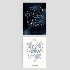 Christmas Cards SCANDINAVIAN - set of 2
