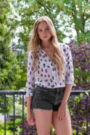 Blouse - Graphic Animal Allover