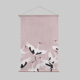 Textielposter - STORK PINK