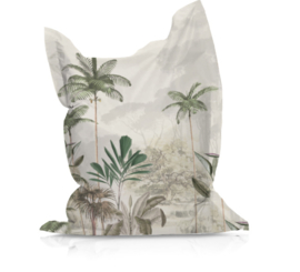 Beanbag TROPICAL WILDERNESS beige/green - suitable for indoor and outdoor use