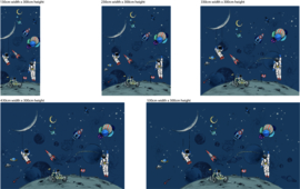 Astronauten behang  - Wandgrote afbeelding - INTO THE GALAXY dark