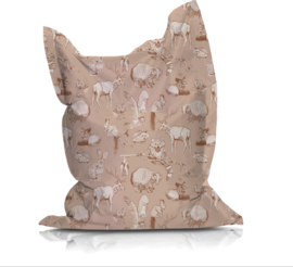 Beanbag FOREST FRIENDS nude/burnt orange - suitable for indoor and outdoor use