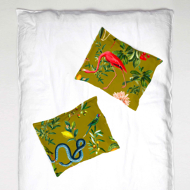 Pillowcase - GARDEN OF EDEN olive gold- 1 cover