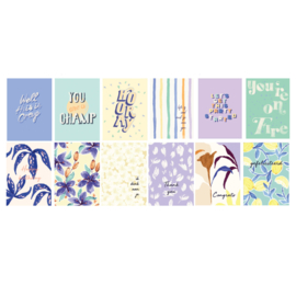 Set 12 Postcards - ARTY BOTANICS & QUOTES