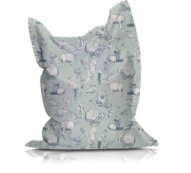 Beanbag FOREST FRIENDS mint/soft teal - suitable for indoor and outdoor use