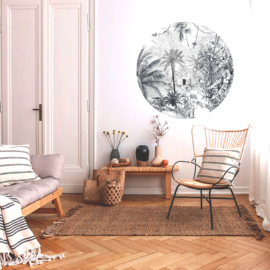 Round wall sticker Rainforest