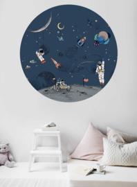 Ronde wandsticker - Into the galaxy dark