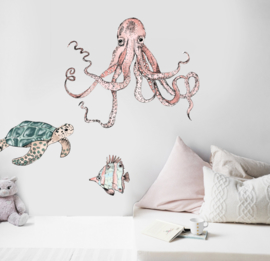 Set of 3 wall stickers Underwater Wonders