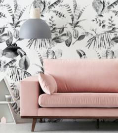 Wallpaper - CACTUS black/white
