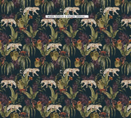 Jungle Wallpaper - Full wall sized image - MONKEY BUSINESS DARK
