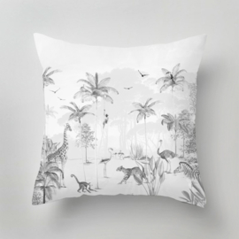 Pillow - Wildlife's Playground black white