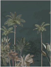 Jungle Behang - Wandgrote afbeelding - TROPICAL WILDERNESS dark