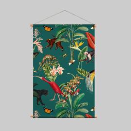 Textielposter - KINGDOM ANIMALIA dark teal