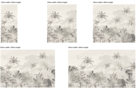 Jungle Wallpaper  - Full wall sized image - TROPICAL WILDERNESS beige
