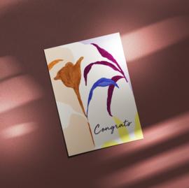 Ansichtkaart - ART FLOWER