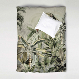 Duvet Cover Set DREAMY JUNGLE green - single