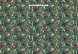 Wallpaper - KINGDOM ANIMALIA - dark teal