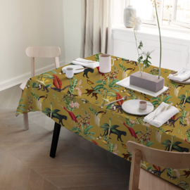Tablecloth - KINGDOM ANIMALIA gold ochre