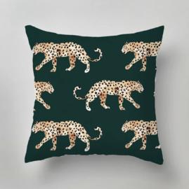 Outdoor pillow - LEOPARD green