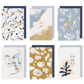 Set 6 Greeting cards - ABSTRACT