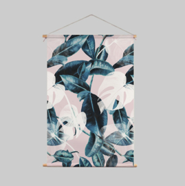 Textile Poster - PINK LEAVES