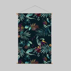 Textielposter - DARK TROPIC