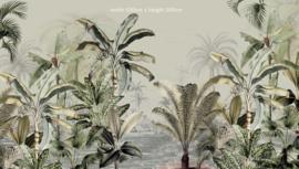 Jungle Behang - Wandgrote afbeelding - DREAMY JUNGLE GREEN