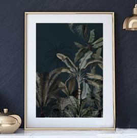 Mini poster A5 - Dreamy Jungle Dark