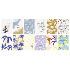 Set 12 Postcards - ABSTRACT & ARTY BOTANICS